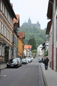 Schloss Wernigerode looming over us...