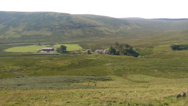 Looking down the hill to Dunploddin - so remote!