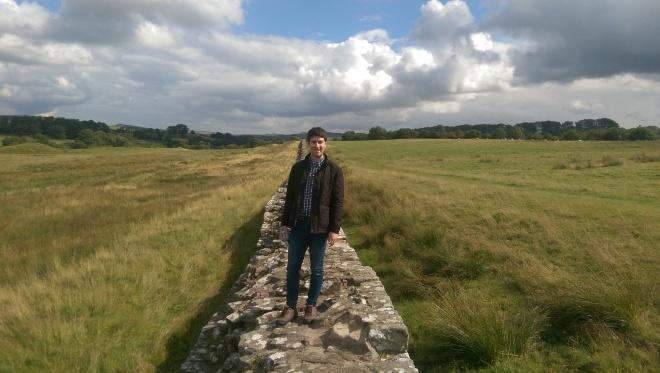 Matt enjoying pretending to be a Roman soldier...
