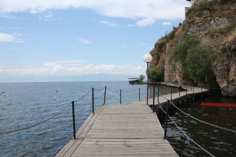 The lakeside board-walk!