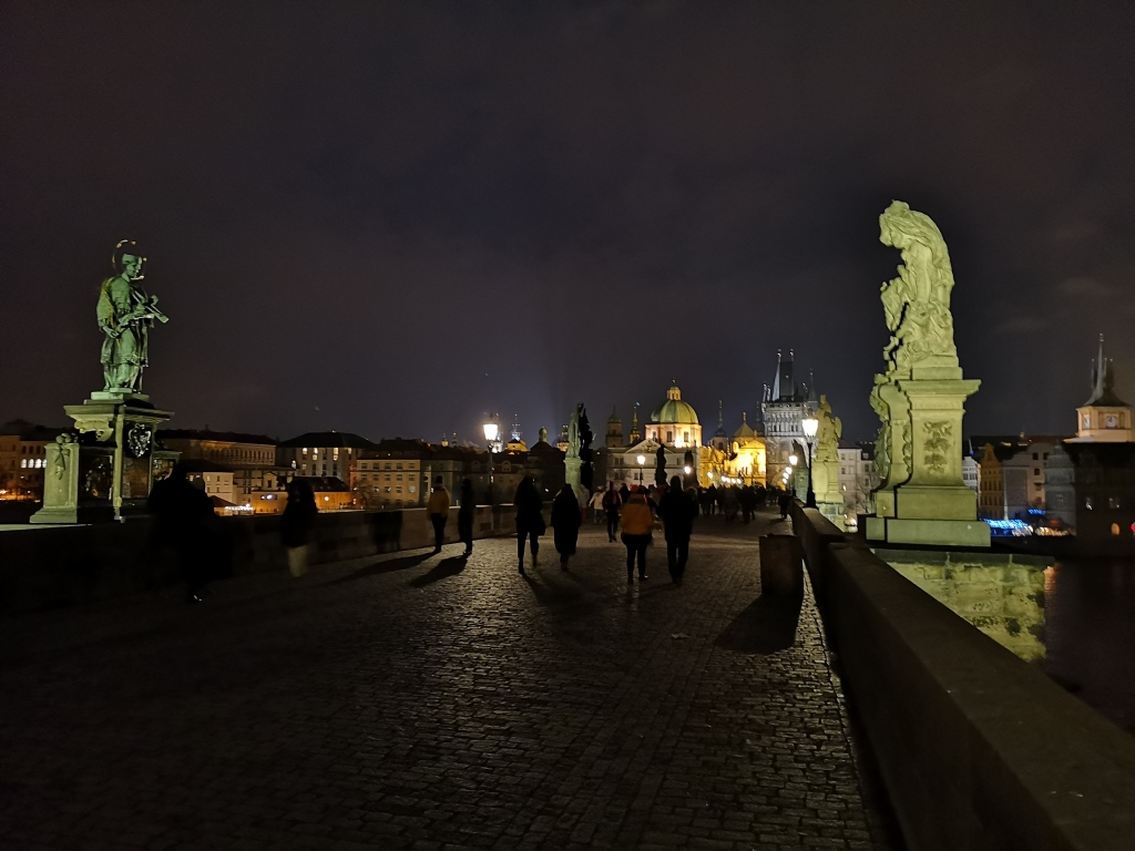 Charles Bridge Night Prague